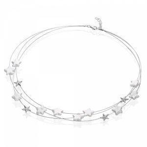 White Diamond Pearl Necklace