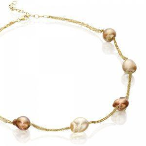 Baroque South Sea Pearl & Gold Necklace
