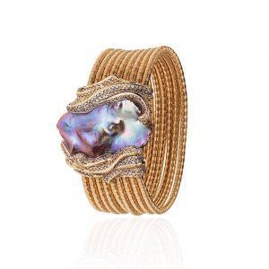 Purple Keshi Pearl Bracelet