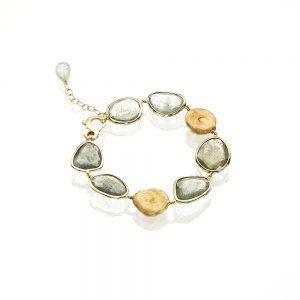 Gold Aquamarine Bracelet