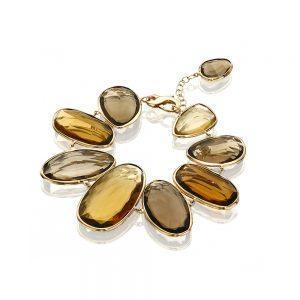 Smokey Quartz & Gold Bracelet