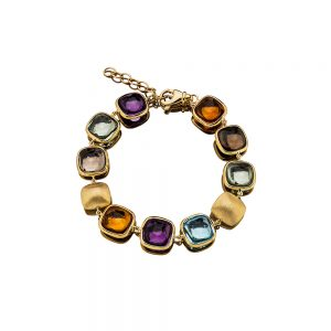 Gemstone & Gold bracelet