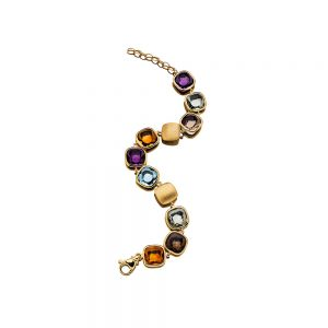 Gemstone & Gold bracelet
