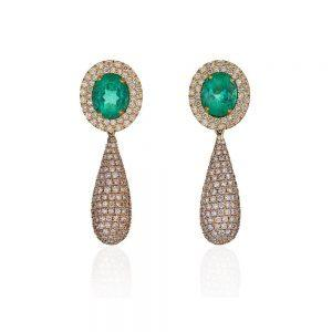 Diamond Tourmaline Earrings
