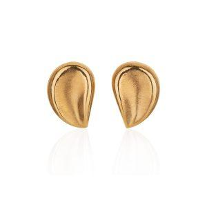 Satin Finish Gold Earrings