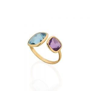 Topaz & Amethyst Ring