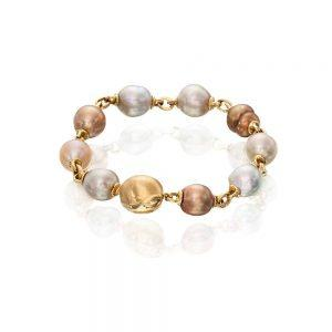 Golden Brown Pearl Bracelet