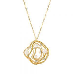 Almog Pearl & Diamond Necklace